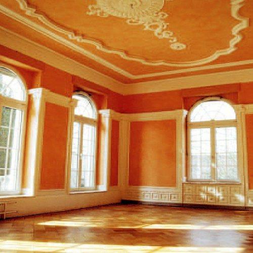 Maler Bielefeld, Denkmalpflege: Dürkopp-Villa in Bad Salzuflen, Neufassung der Innenräume durch Stenner und Keitel