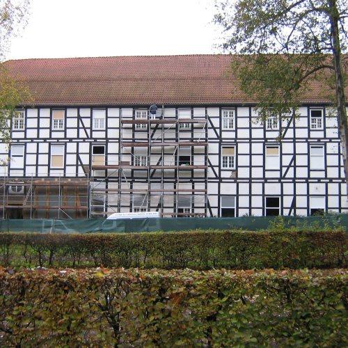 Maler Bielefeld, Denkmalpflege: Gräfliches Kurhotel in Bad Driburg, denkmalgerechte Neugestaltung von Haus Vinke, außen durch Stenner und Keitel