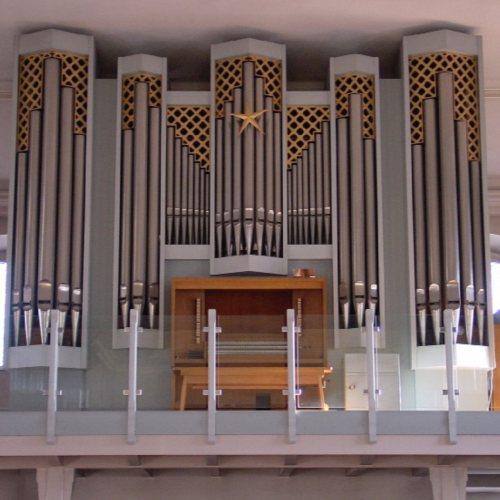 Maler Bielefeld, Denkmalpflege: Farbgebung der Orgel in der Kath. St. Dyonisiuskirche in Enger durch Stenner und Keitel