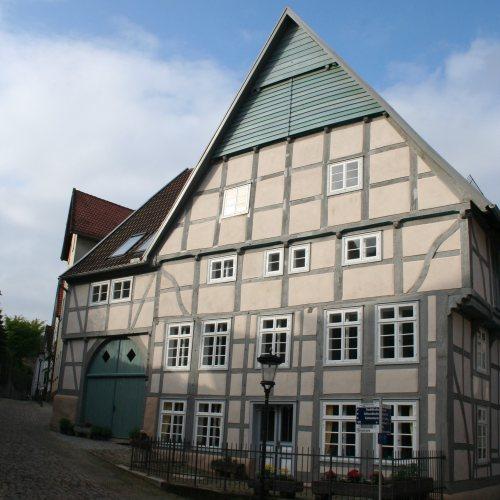 Maler Bielefeld, Denkmalpflege: Restaurierung von Haus Schuhseil in Bad Salzuflen durch Stenner und Keitel