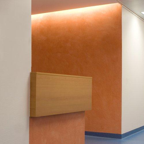 Maler Bielefeld, Innenraum: Flurbereich in der gynäkologischen Klinik im Klinikum Bielefeld-Mitte, Stenner und Keitel