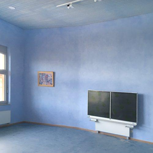 Maler Bielefeld, Innenraum: Klassenraum / Lasurfarbgestaltung